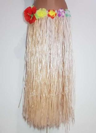 """Гавайская юбка """"хула"""", в поясе 37-78 см, как новая!"""