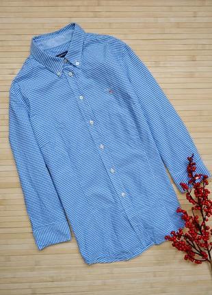 Стильная рубашка в мелкую клетку gant