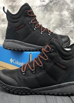 Черные мужские оригинальные зимние ботинки columbia 40 41 42 43 44 45 46 47