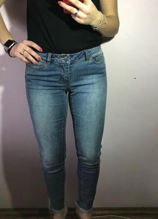 Стильні джинси з необробленим низом5
