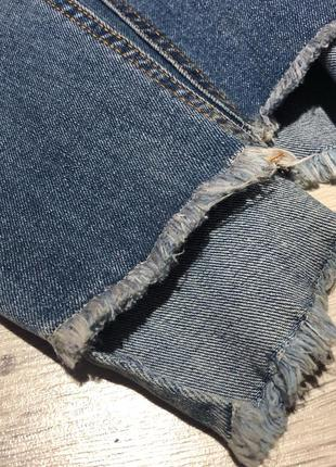 Стильні джинси з необробленим низом2