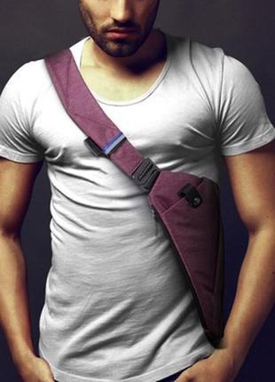 Мужская сумка через плече мессенджер cross body (кросс боди) red
