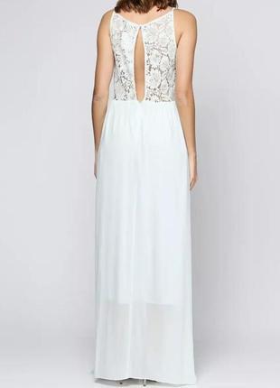 Вечернее платье h&m с кружевной спинкой с вырезом.