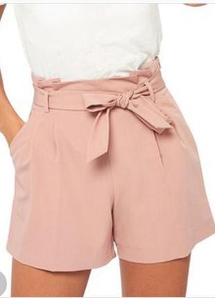 Пудровые шорты с поясом большой размер от new look