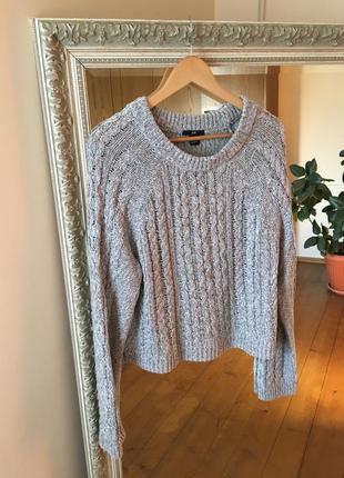 Сірий светр h&m