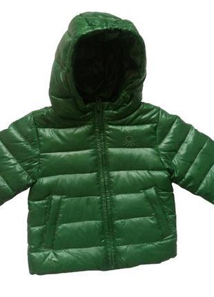 Куртка пуховик benetton бенеттон бенетон 80см