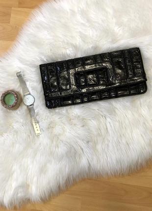 Клатч базовый чёрный лакированный h&m