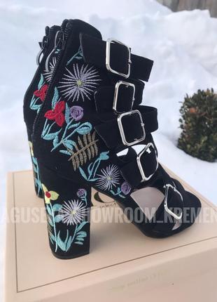 Нереальные босоножки на каблуке с вышивкой ❤️2
