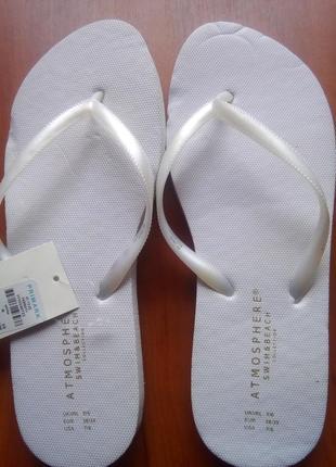 Шлепанцы белые 38-39 размера
