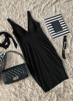 Базовое чёрное платье  с поясом от js collection