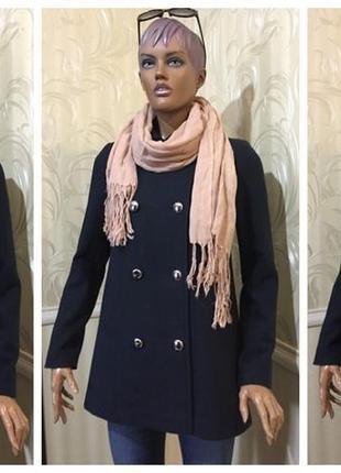 Двубортное пальто - 100% шерсть, kira plastinina, размер xs