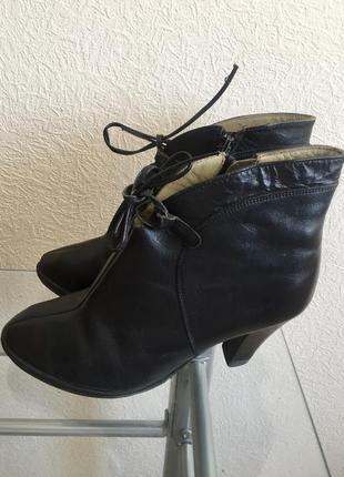 Ботильоны на шнуровке (натуральная кожа)