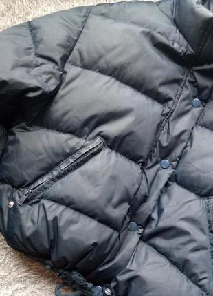 Дутая укороченная пуховая женская куртка пуховик agua viva s m