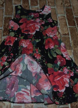 Платье нарядное котон 8-9лет