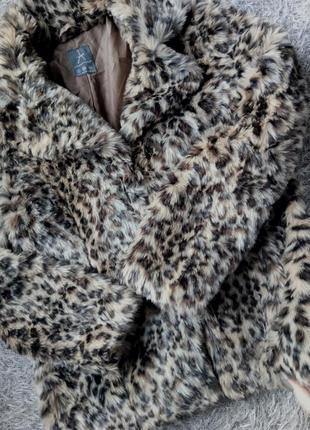 Женская леопардовая шуба полушубок atmosphere size 36 s
