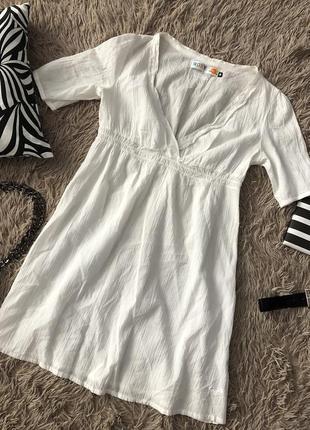 Белая легкая пляжная туника платье от roxy