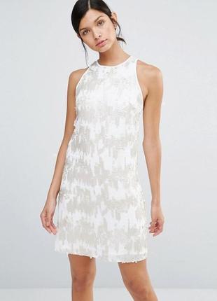 Цельнокройное платье с пайетками little mistress a1045