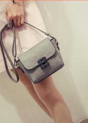 Красивая сумочка мини, серая