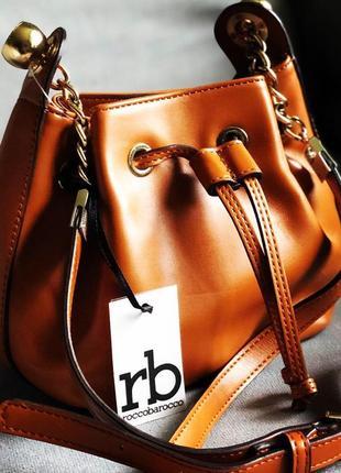 Новая сумка бочонок от итальянского бренда roccobarocco (оригинал)