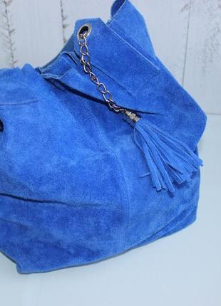 36х43см замшевая сумка мешок, шоппер на плечо