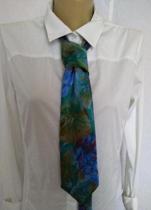 Стильный шелковый галстук lanvin
