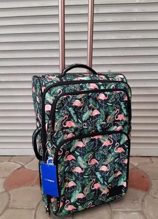 Чемодан, валіза, средний чемодан, фламинго, женский чемодан