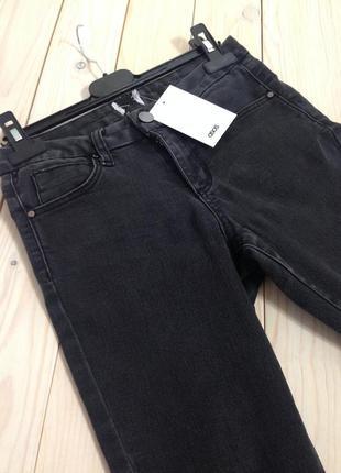 Темно-серые джинсы скинни asos