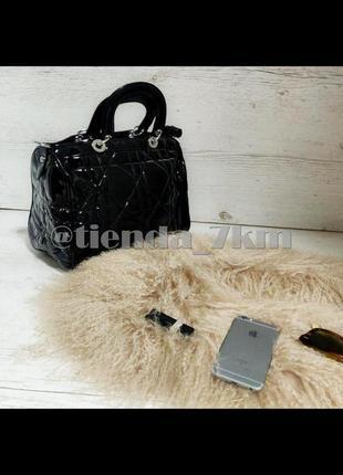 Женская стеганая сумка бочонок 90016 черная