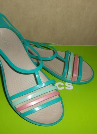 Сандалии crocs isabella cut р. w7-24,8см. оригинал