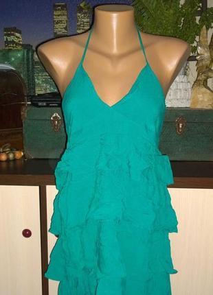 Платье с оборками рюшами и открытой спинкой h&m