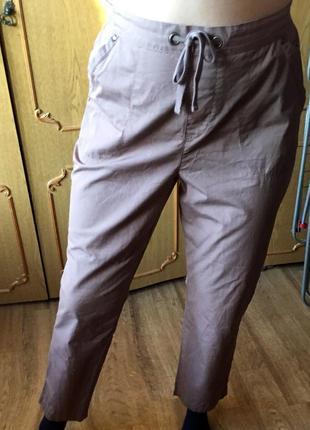 Лёгкие брюки с высокой посадкой ,размер l-xl