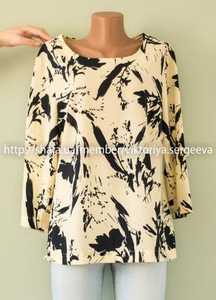 Большой выбор блуз - стильная легкая блуза рукав ¾