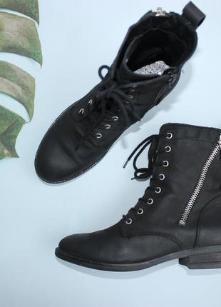 38 24,5см roberto santi кожаные осень ботинки на шнуровке
