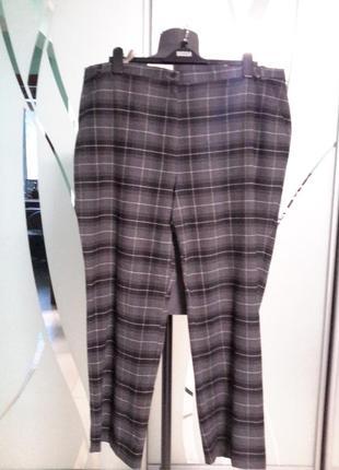 Повседневные штаны/брюки в клетку большой размер