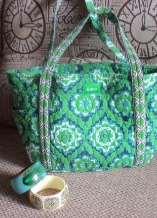 Яркая стеганая дизайнерская сумка liz&co cotton