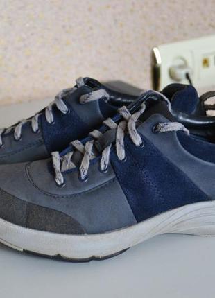 Кожаные кроссовки туфли мокасины clarks.