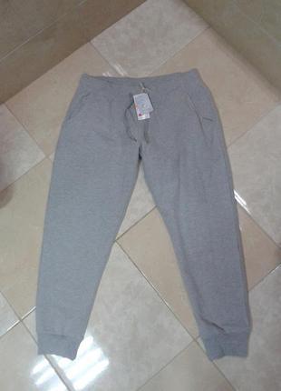 Эко хлопок! утепленные меланжевые штаны джоггеры л-хл германия giada lidl