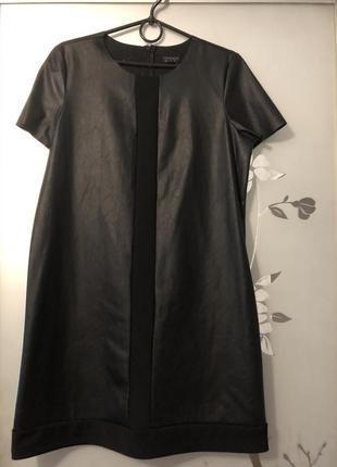 Topshop кожаное платье