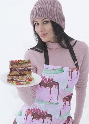 Дизайнерский фартук с принтом десерт