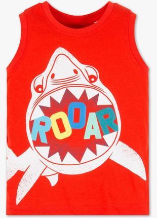 """Новая красная майка """"акула"""", c & a, 2008219"""