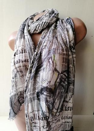 Galliano хлопковый шарф john galliano