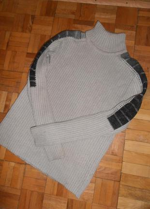 Шерстяной свитер с горлом мужской