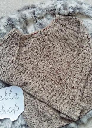 Теплейший свитер на змейке  шерсть, фирменная кофта по супер-цене