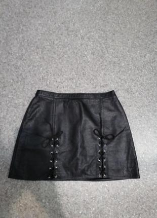 Шикарная юбка из натуральной кожи