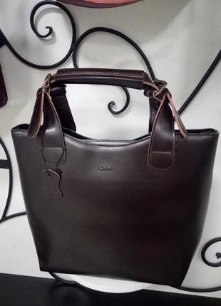 Деловая кожаная сумка,коричневая,сумка-шоппер,натуральная кожа,вместительная,качественная
