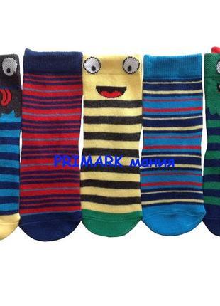Носки для мальчика 5 шт (19-22 евр) primark