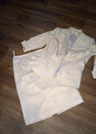 Костюм пиджак и юбка-карандаш