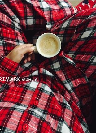 Женская фланелевая пижама primark