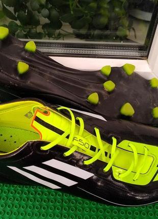 Бутсы копочки шиповки adidas adizero f50  р.43.5 стелька 27.5 ultra light