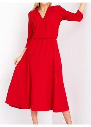 Красное класическое платье 46 и 48 размер